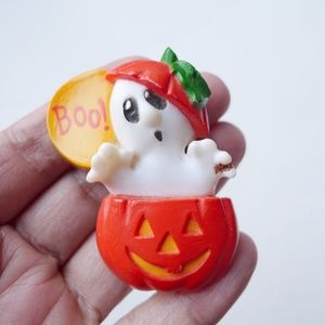 VTG 80s BOO! Halloween brooch by Hallmark
